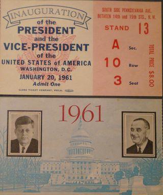 JFK Inaugural tickets