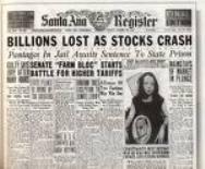 Stock crash newspaper