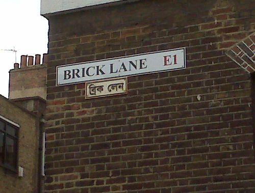 Brick Lane Road sign