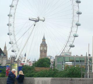 London Eye w big ben but cut off tigt