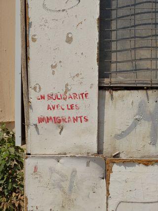 Immigrant solidarity stencil