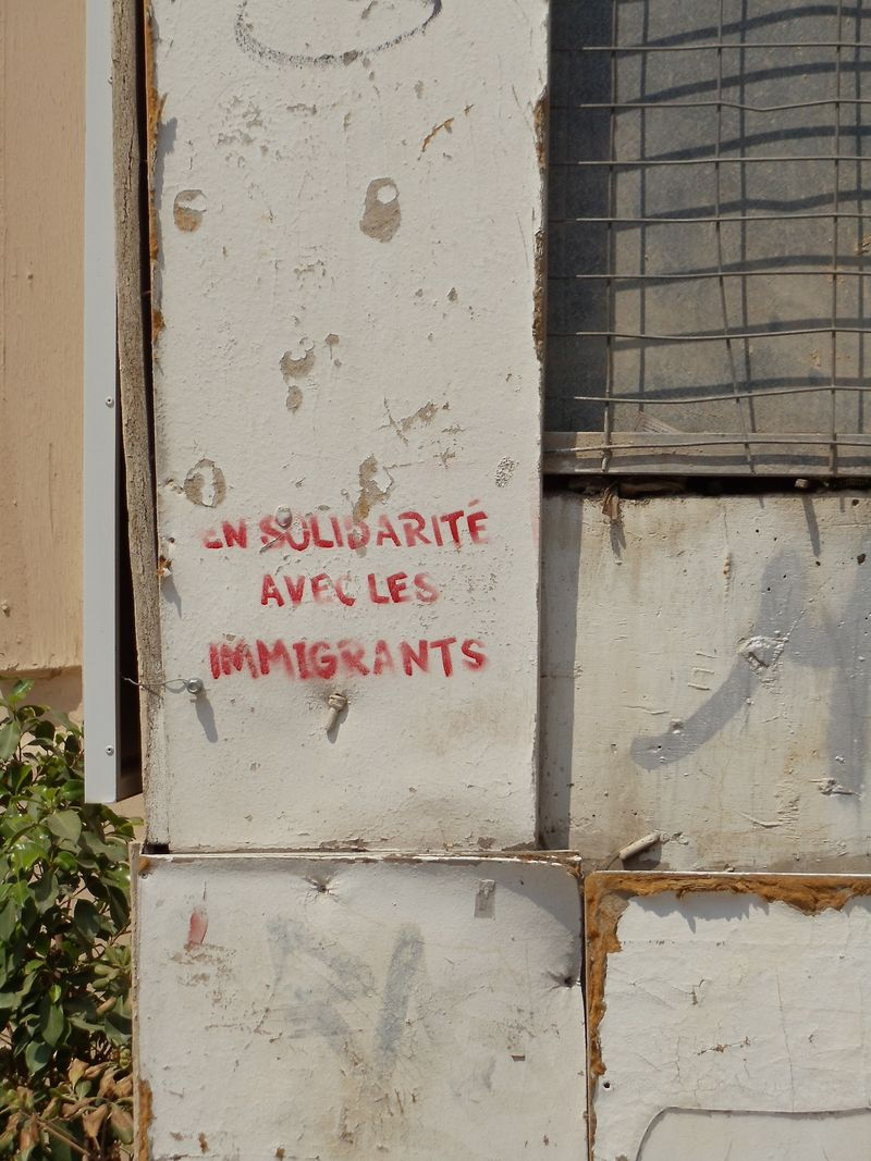 Immigrant solidarity stencil